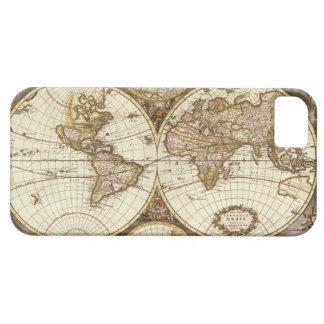 Mapa de Viejo Mundo iPhone 5 Case-Mate Cárcasas