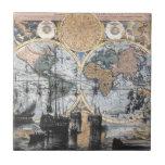 Mapa de Viejo Mundo - hacia fuera al mar Tejas Ceramicas