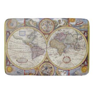 Mapa de Viejo Mundo hermoso de la antigüedad y del