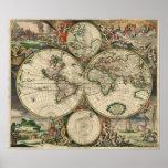 Mapa de Viejo Mundo Impresiones
