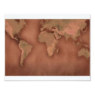 """mapa de Viejo Mundo Invitación 4.25"""" X 5.5"""""""