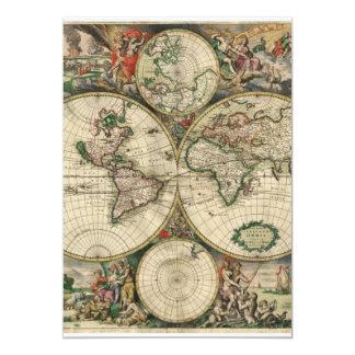 """Mapa de Viejo Mundo Invitación 5"""" X 7"""""""