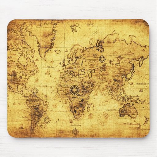 Mapa de Viejo Mundo Mousepad Alfombrilla De Ratón