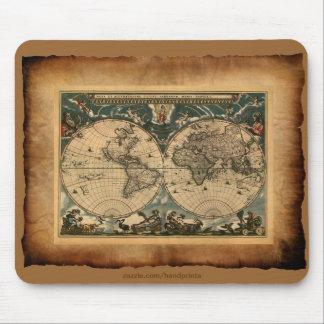 Mapa de Viejo Mundo Mousepad Alfombrilla De Raton