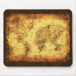 Mapa de Viejo Mundo Mousepad Alfombrillas De Ratón