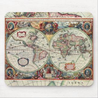 Mapa de Viejo Mundo Mousepad Tapetes De Ratón