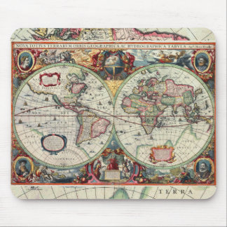Mapa de Viejo Mundo Mousepad Tapete De Ratón