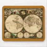 Mapa de Viejo Mundo Mousepad Tapetes De Ratones