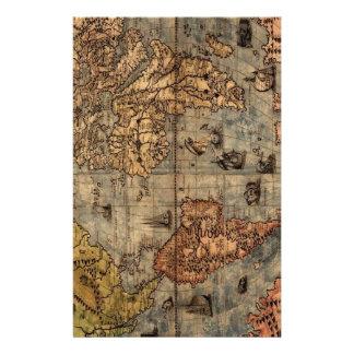 Mapa de Viejo Mundo Papelería De Diseño