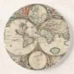 Mapa de Viejo Mundo Posavaso Para Bebida
