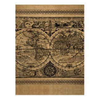 Mapa de Viejo Mundo Postales