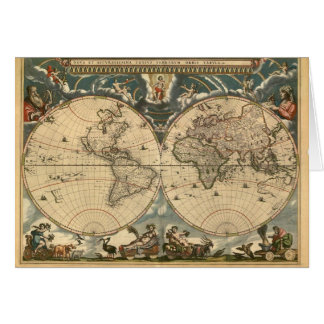 Mapa de Viejo Mundo - tarjeta