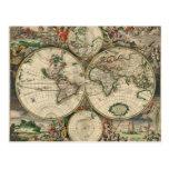 Mapa de Viejo Mundo Tarjeta Postal