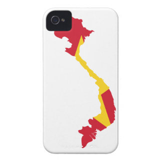 MAPA DE VIETNAM iPhone 4 Case-Mate COBERTURAS