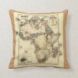 Mapa de Viintage 1874 de la impresión africana ant Cojin