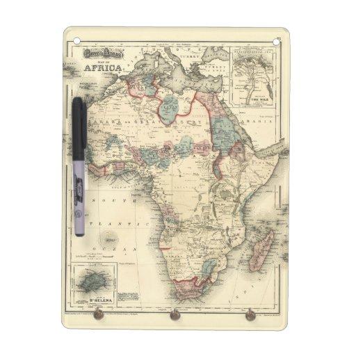 Mapa de Viintage 1874 de la impresión africana ant Pizarra