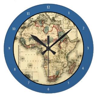 Mapa de Viintage 1874 de la impresión africana ant Relojes