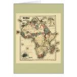 Mapa de Viintage 1874 de la impresión africana ant Tarjetón