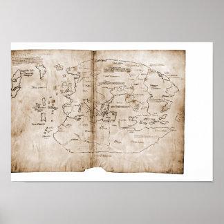 Mapa de Vinland Póster