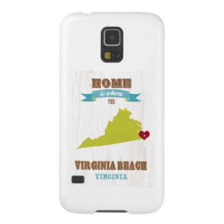 Mapa de Virginia Beach, Virginia - casero es donde Carcasa Galaxy S5