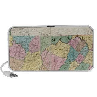 Mapa de Virginia de Maryland y de Delaware Altavoz De Viajar