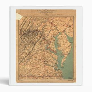"Mapa de Virginia del este (1862) Carpeta 1"""
