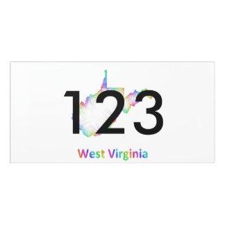 Mapa de Virginia Occidental del arco iris