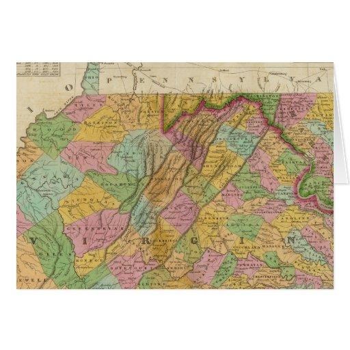 Mapa de Virginia y de Maryland Felicitaciones
