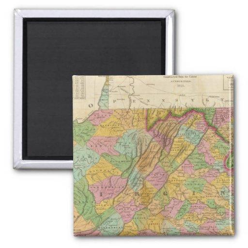 Mapa de Virginia y de Maryland Imán