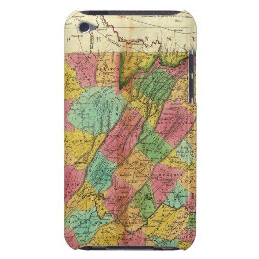 Mapa de Virginia y de Maryland iPod Touch Case-Mate Coberturas
