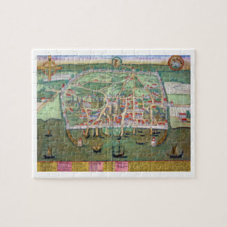 "Mapa de Visby, de ""Civitates Orbis Terrarum"" por G Rompecabeza"