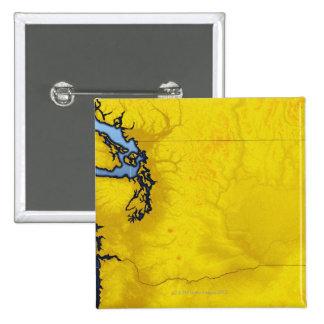 Mapa de Washington 2 Pin Cuadrada 5 Cm