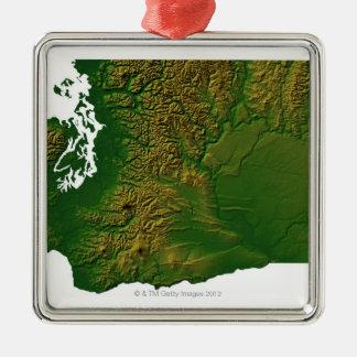 Mapa de Washington 3 Ornatos