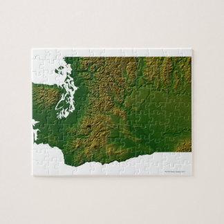 Mapa de Washington 3 Rompecabeza Con Fotos