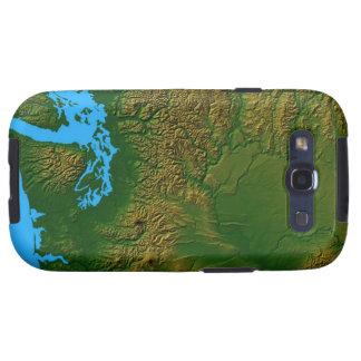 Mapa de Washington Samsung Galaxy S3 Carcasa