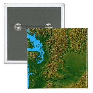 Mapa de Washington Pin Cuadrada 5 Cm