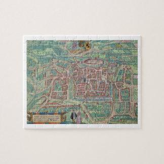 "Mapa de Weimar, de ""Civitates Orbis Terrarum"" cerc Puzzles Con Fotos"