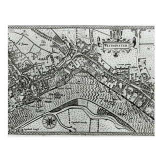 Mapa de Westminster del 'espéculo Britannia Tarjeta Postal