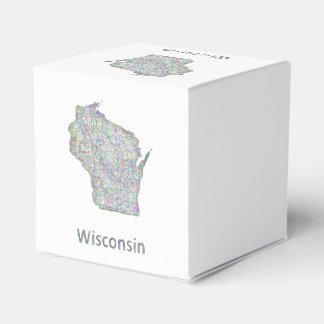 Mapa de Wisconsin Cajas Para Detalles De Boda