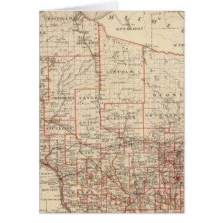 Mapa de Wisconsin, mostrando distritos de la asamb Tarjetas