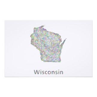 Mapa de Wisconsin Papeleria De Diseño