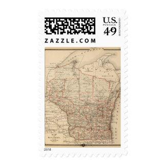 Mapa de Wisconsin que muestra distritos Sello