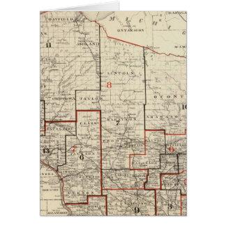 Mapa de Wisconsin Felicitación