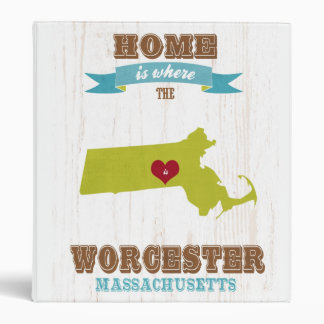 Mapa de Worcester Massachusetts - casero es donde