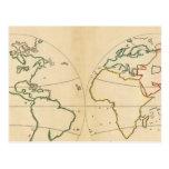 Mapa de Worlp con 5 zonas Postales