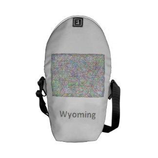Mapa de Wyoming Bolsa De Mensajería