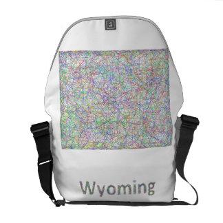 Mapa de Wyoming Bolsas De Mensajería