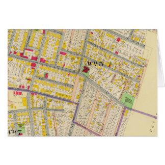 Mapa de Yonkers Nueva York Tarjeta De Felicitación