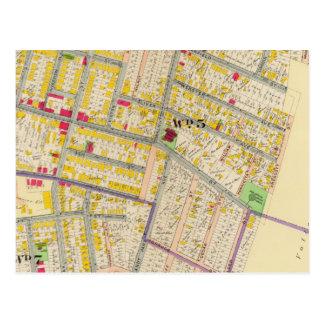Mapa de Yonkers Nueva York Tarjeta Postal