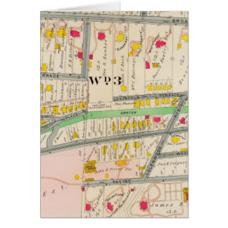 Mapa de Yonkers NY Tarjeta De Felicitación